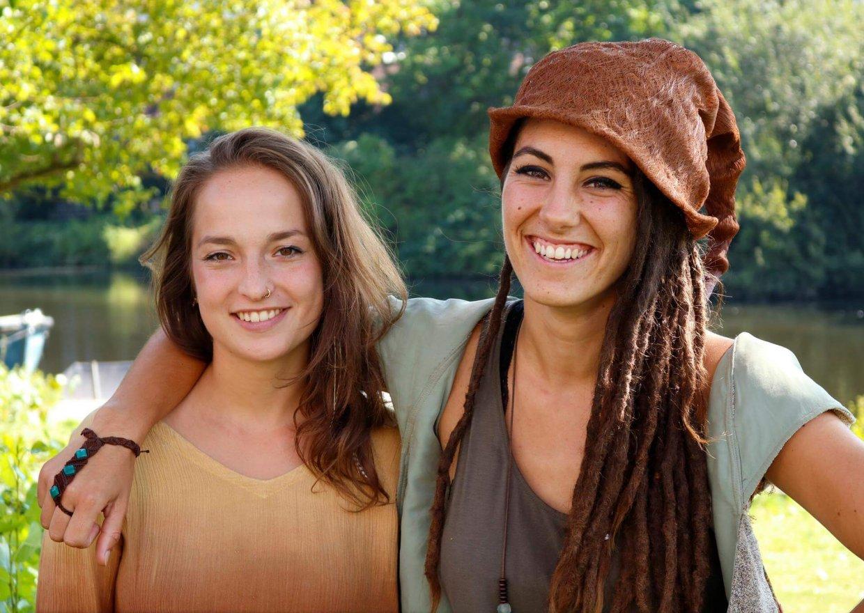 Links: Sophia Bensch, rechts: Luana Carretto - Fotograaf: Nadine Maarhuis